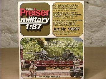 Preiser HO 16527 German Light Field Howitzer & Limber