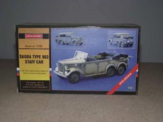 PlusModel 1/35 105 Skoda Type 903 Staff Car - Complete Kit