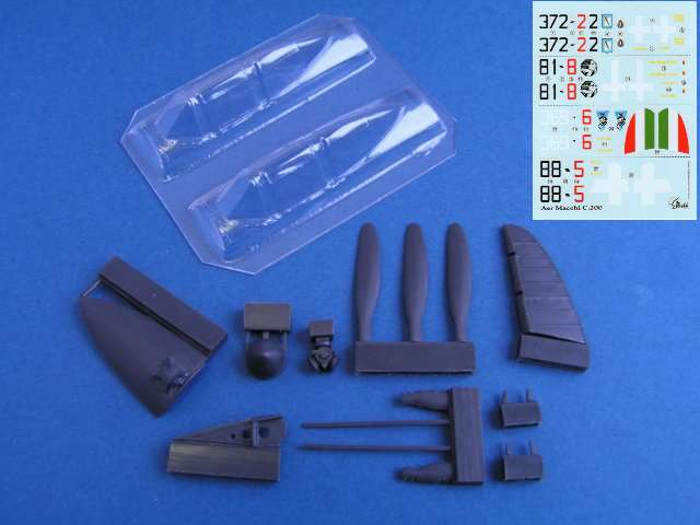 Pavla Macchi MC.200 Saetta I Srs Upgrade Set for Italeri Model U4838