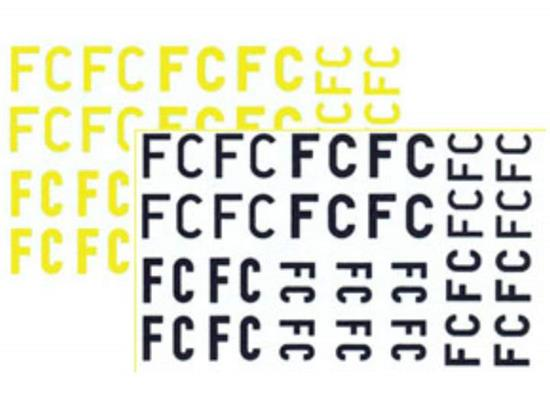 FC squadron letters yellow & black