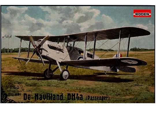 Roden Airco DH.4a (passenger version). The worlds first commercial aircraft