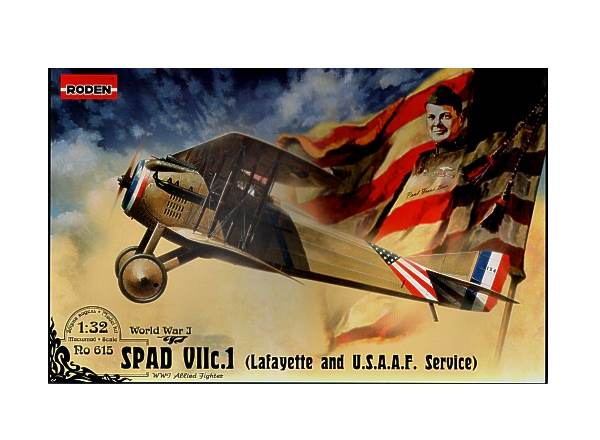 Roden 1/32 615 Spad VIIc.1 Lafayette and USAAF Service