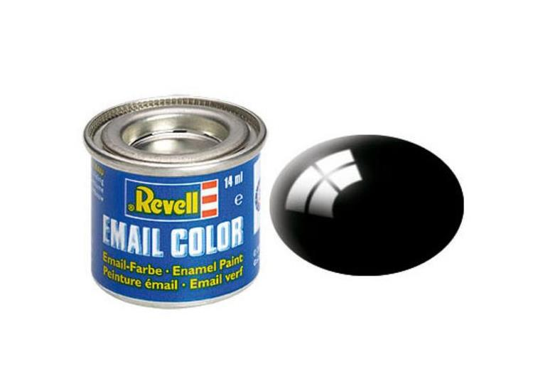 Revell 14ml 32107 07 Black Gloss Enamel Paint
