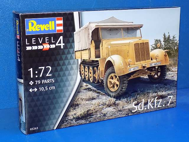 Revell 1/72 3263 Sd.Kfz. 7 (late production)
