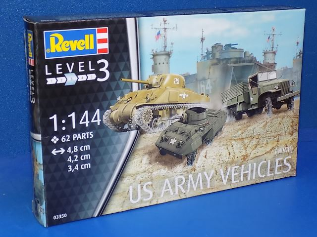 Revell 1/144 3350 US Army Vehicles (WWII)