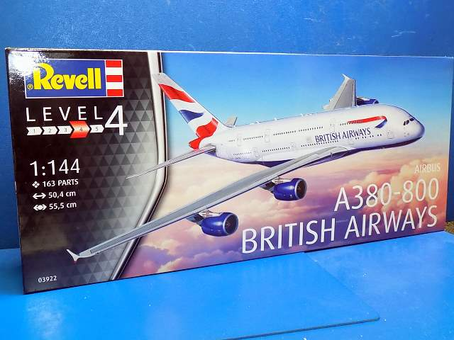 Revell 1/144 3922 A380-800 British Airways