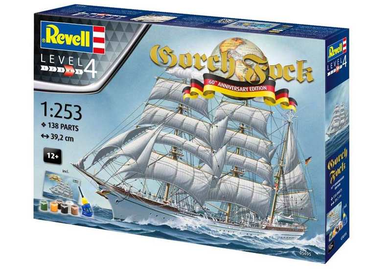 Revell Gorch Fock 60th Annv Gift Set