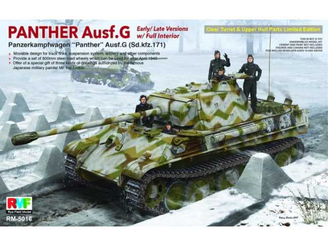 Rye Field 1/35 5016 Panther Ausf.G Early/Late with Full interior Sd.kfz.171