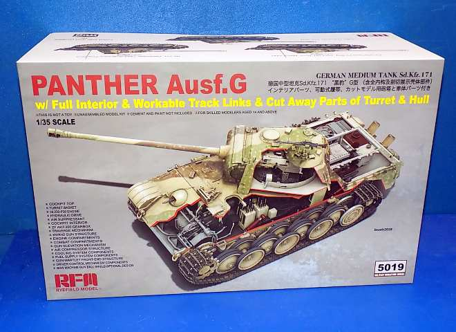 Rye Field 1/35 5019 Panther Ausf.G w/ Full Interior and Cutaway Parts
