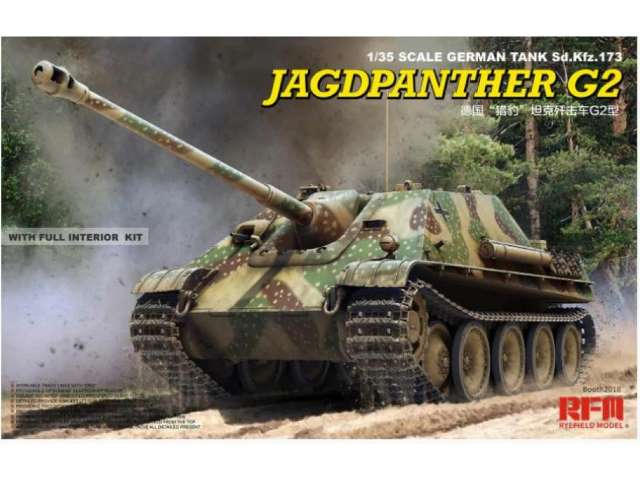 Rye Field Jagdpanther G2 with full interior & workable track links