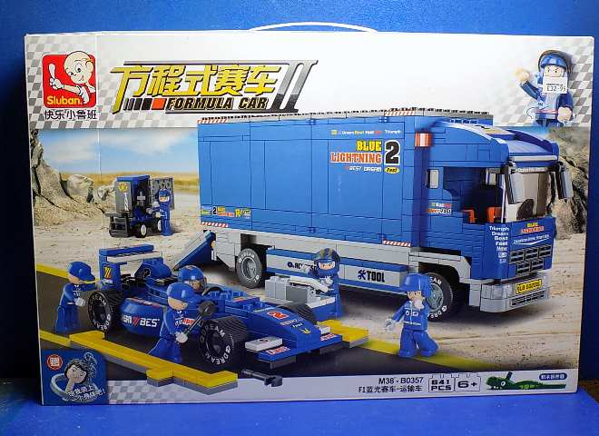 Formula II Racing Car and Truck 641pcs - Compatible Building Blocks