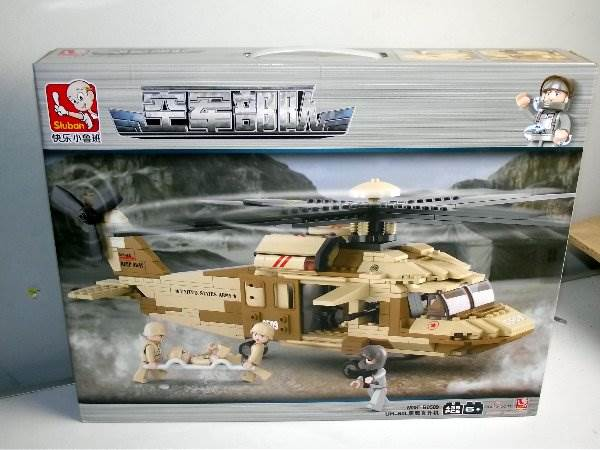 UH-60L Desert Hawk - Building Bricks 439 Pieces