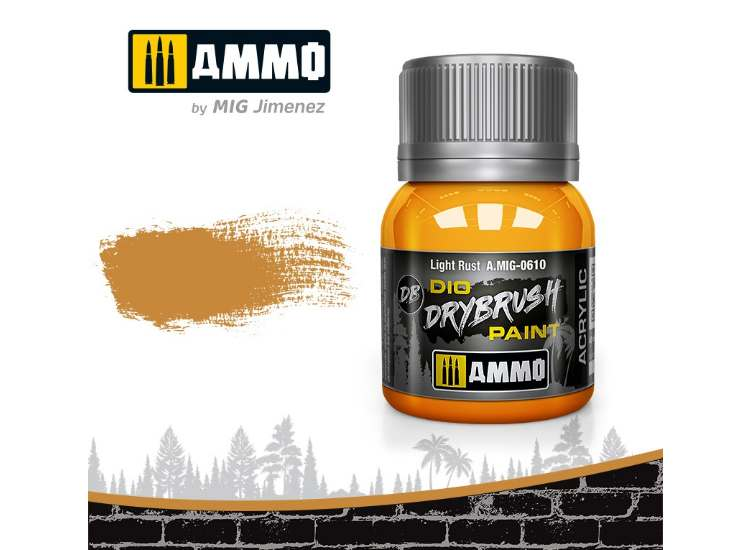 Ammo Mig 40ml 0610 Drybrush Acrylic Paint - Light Rust