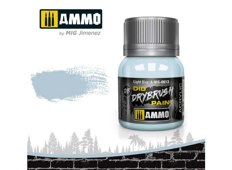 Ammo Mig 40ml 0613 Drybrush Acrylic Paint - Light Blue