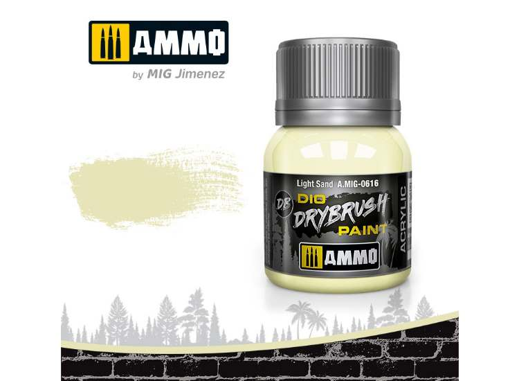 Ammo Mig 40ml 0616 Drybrush Acrylic Paint - Light Sand