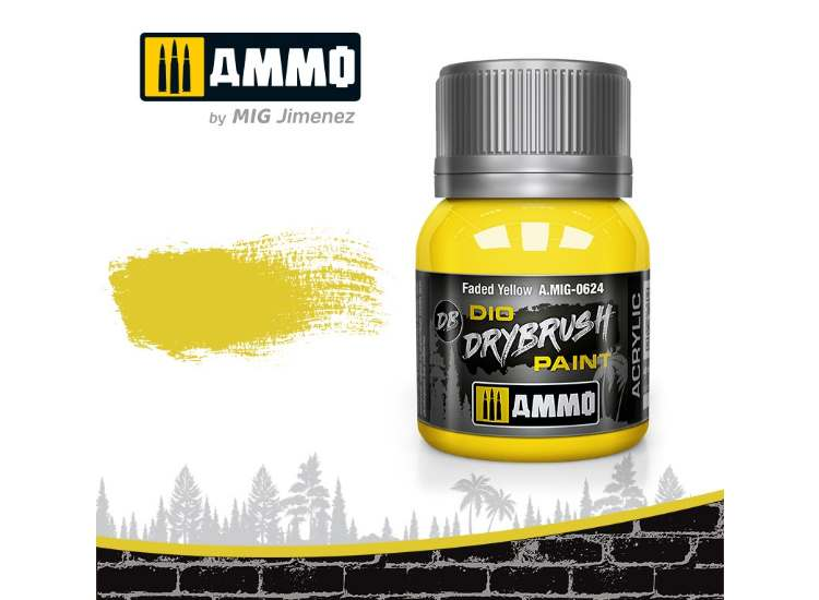 Ammo Mig 40ml 0624 Drybrush Acrylic Paint - Faded Yellow