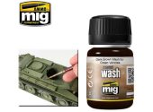 Ammo Mig 35ml 1005 Dark Brown Wash For Green Vehicles - Enamel