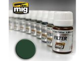 Ammo Mig 30ml 1508 Enamel Filter - Green For Grey Green