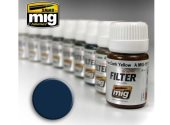 Ammo Mig 30ml 1509 Enamel Filter - Blue For Dark Grey