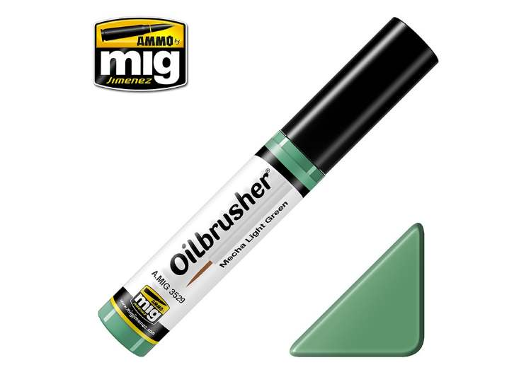 Ammo Mig 10ml 3529 Oilbrusher Paint - Mecha Light Green