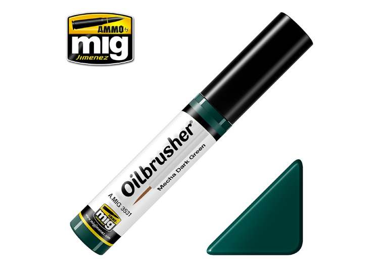 Ammo Mig 10ml 3531 Oilbrusher Paint - Mecha Dark Green
