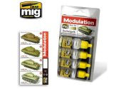 Ammo Mig 17ml x4 7000 Dunkelgelb Modulation Set - Acrylic Paint Set