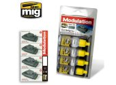 Ammo Mig 17ml x 4 7001 Dunkelgrau Modulation Set - Acrylic Paint Set