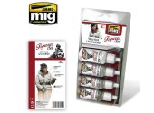 Ammo Mig 17ml x4 7020 Winter Uniforms - Acrylic Paint Set