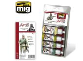 Ammo Mig 17ml x4 7023 WWI Soviet Uniforms - Acrylic Paint Set