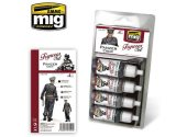 Ammo Mig 17ml x4 7024 Panzer Crew - Acrylic Paint Set