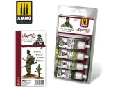 Ammo Mig 17ml x4 7034 US Vietnam Uniforms Acrylic Paint Set