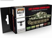 Ammo Mig 17ml x6 7101 German Late War Camouflages Arcrylic Paint Set