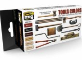 Ammo Mig 17ml x 6 7112 Tool Colors - Acrylic Paint Set