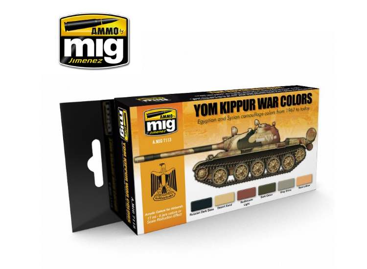 Ammo Mig 17ml x6 7113 Yom Kippur War - Acrylic Paint Set