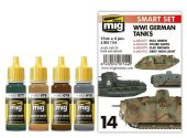 Ammo Mig 17ml x4 7144 WWI German Tank Acrylic Paint Set