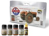 Ammo Mig - 7145 Civil Vehicles Weathering Set
