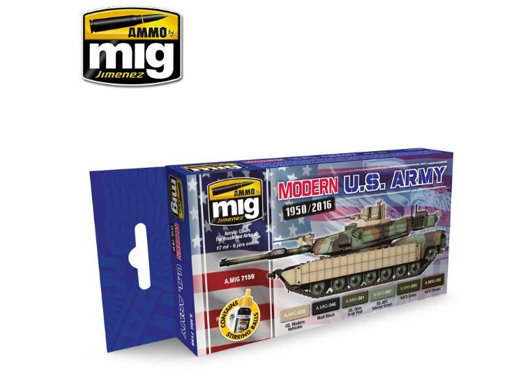 Ammo Mig 17ml x6 7159 Modern USA Army - Acrylic Paint Set