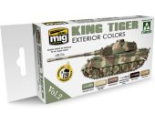 Ammo Mig 17ml x 6 7166 King Tiger Exterior Colour Vol.2 - Acrylic Paint Set