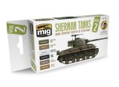 Ammo Mig 17ml x6 7170 Sherman Tank Acrylic Paint Set 2