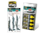 Ammo Mig 17ml x4 7202 USAF Modern Grey Colours Acrylic Paint Set