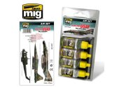 Ammo Mig 17ml x4 7205 USAF TAC Colours 60-70's Acrylic Paint Set