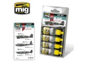 Ammo Mig 17ml x 4 7214 Late WWII RAF colours - Acrylic Paint Set