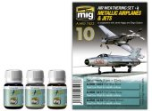 Ammo Mig 3x 35ml 7423 Metallic Jets / Aircraft Weathering Set
