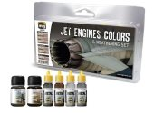 Ammo Mig - 7445 Jet Engines Colours And Weathering Set