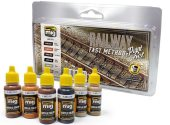 Ammo Mig 17ml x6 7471 RaIlway Fast Method Acrylic Paint Set
