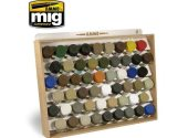 Ammo Mig - 8014 10ml Tamiya / Gunze Bottle Storage System (Stores 54)
