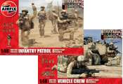 Airfix 1/48 03701-2 Operation Herrick British Infantry Patrol and Vehicle Crew Two Box Set
