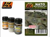 AK Interactive 3 x 35ml 00073 NATO Weathering Set