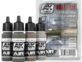 AK Interactive 4x 17ml 02100 USAF TAC South East Asia (SEA) Scheme Paint Set