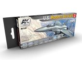 AK Interactive 17ml x8 02140 US Modern Aircraft Colour 2 Acrylic Paint Set
